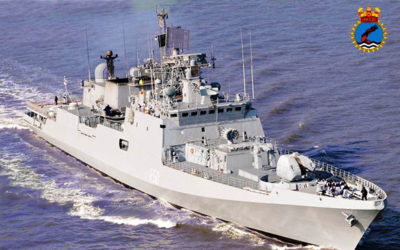 Indian naval ship Tarkashtakes part in Festival Kreol